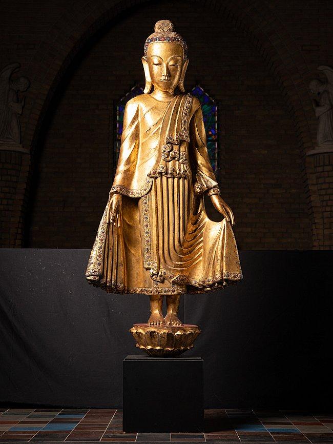 Grote bijzondere Birmese Shan Boeddha