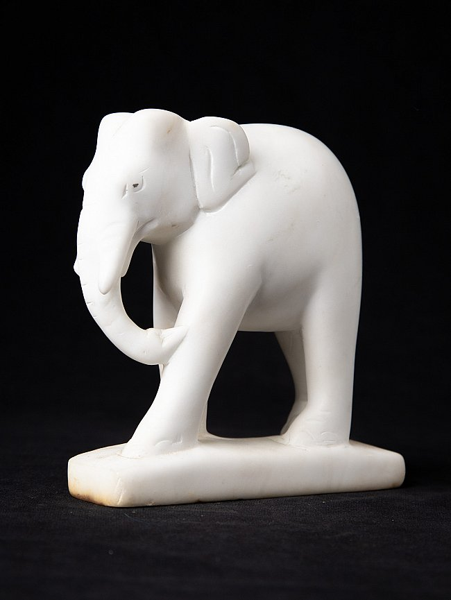 Old marble elephant statue