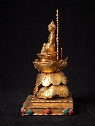 Newly made Nepali bronze Buddha statue
