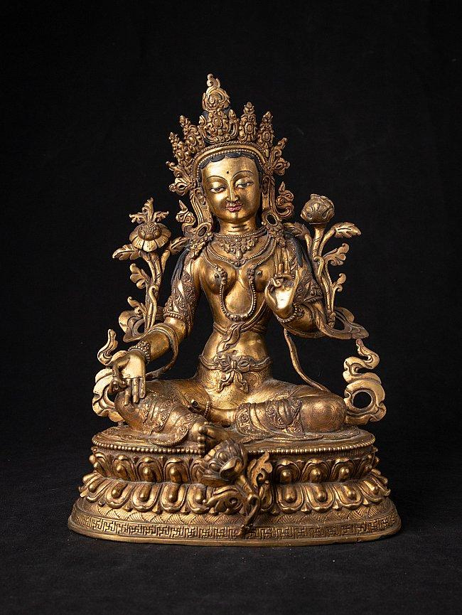 Old Nepali bronze Green Tara statue
