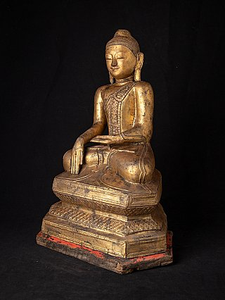 Antike vergoldete burmesische Buddha