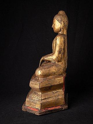 Antieke vergulde Birmese Boeddha