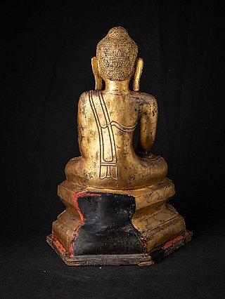 Antique gilded Burmese Buddha statue