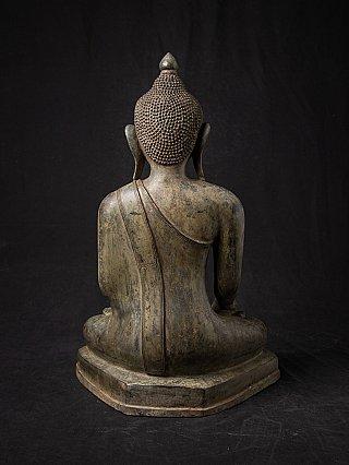 Oude bronzen Birmese Boeddha