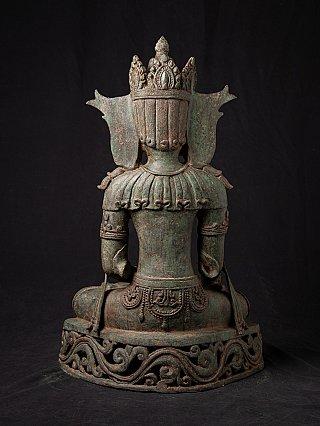Antique bronze Burmese Arakan Buddha statue