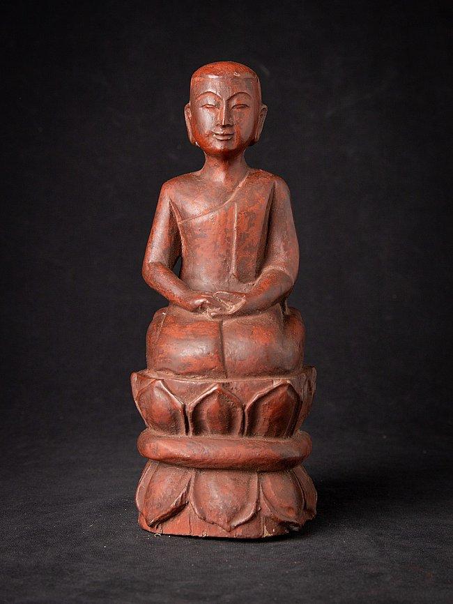 Oude houten Birmese monnik