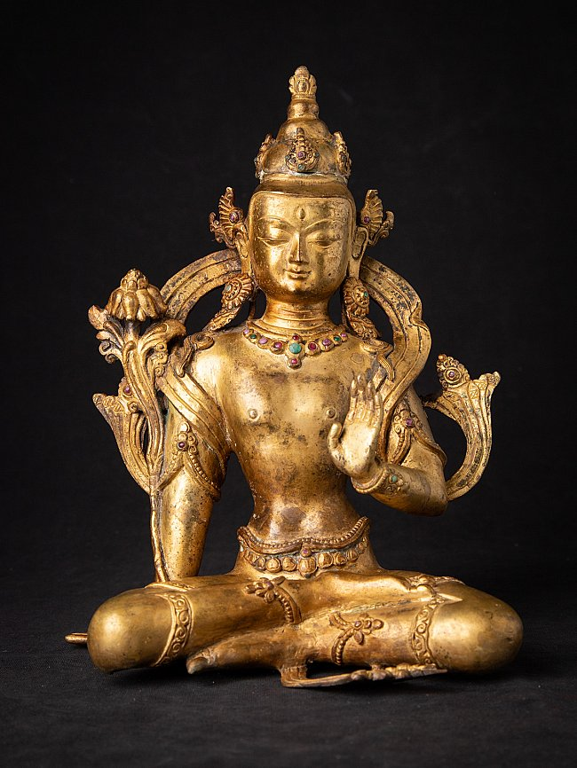 Alte Nepal bronze Lokeswor Figur