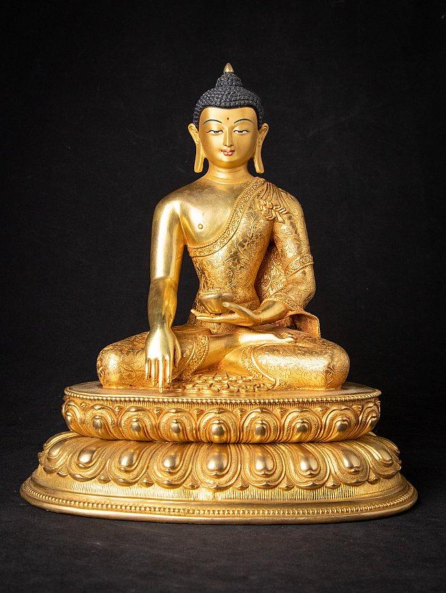 High quality Nepali bronze Gold-Face Buddha