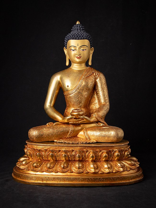 Hoge kwaliteit Nepalees bronzen Boeddhabeeld