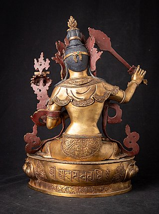 Old bronze Nepali Manjushree statue