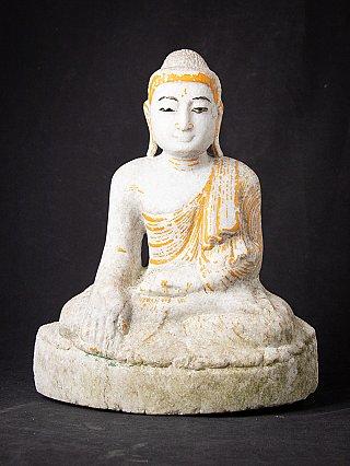 Oude marmeren Mandalay Boeddha