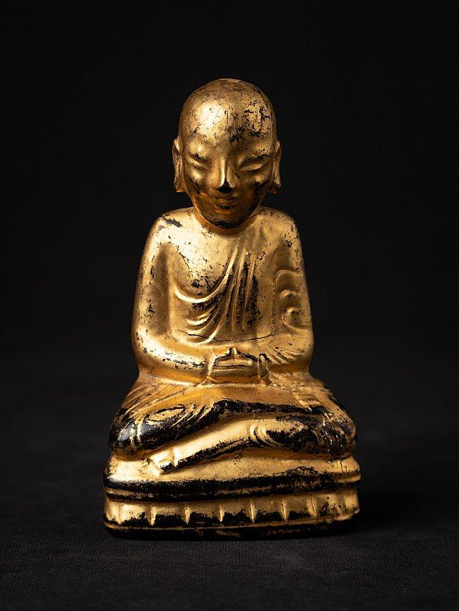 Antieke houten Birmese monnik