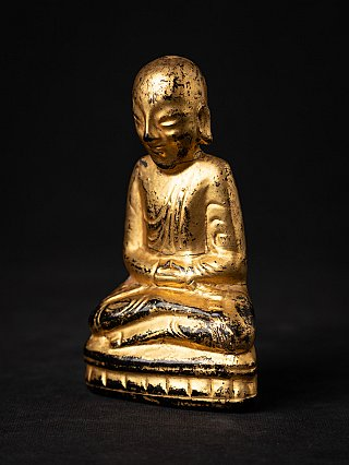 Antique wooden Burmese monk