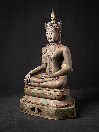 Antique bronze Thai Lanna Buddha statue