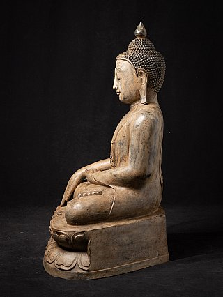Old Burmese bronze Buddha statue