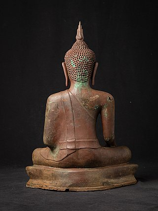 Old bronze Thai Buddha statue
