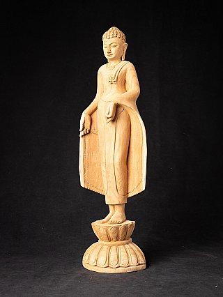 Newly made teakwooden Burmese Buddha statue