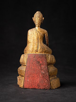 Antique Thai Wooden Buddha statue