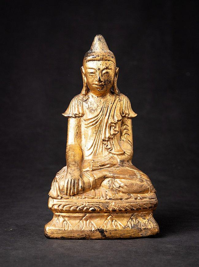 Antique Burmese wooden Buddha statue