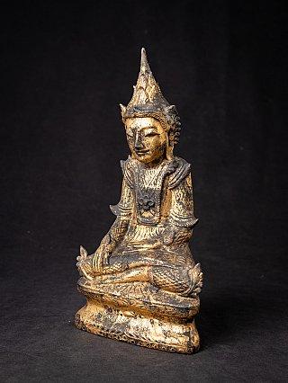 Antike holzerne Birmanische Shan Buddha