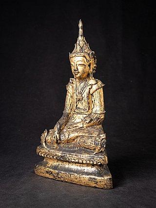 Antique wooden Burmese Shan Buddha statue
