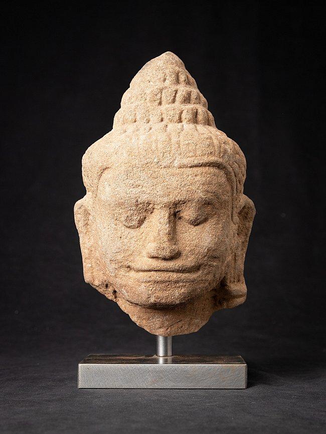 13th century Sandstone Buddha head - Bayon period