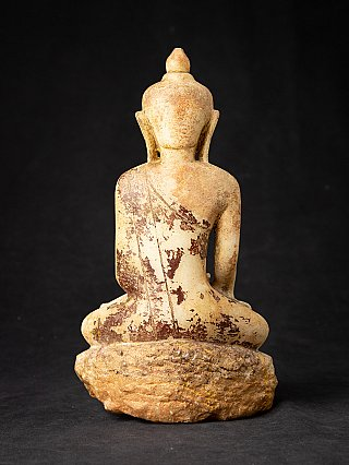 Antique marble Burmese Buddha statue