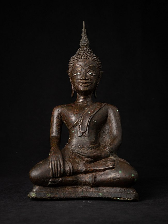 Early antique bronze Laos Buddha statue