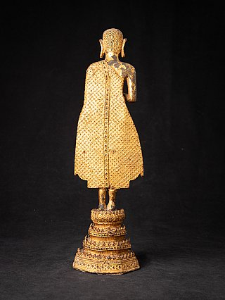 Antique bronze Thai Monk - Rattanakosin period