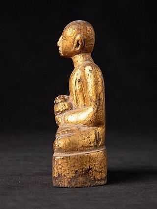 Antique wooden Burmese monk