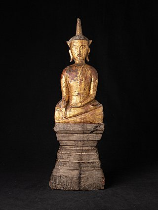 Antique wooden Laotian Buddha