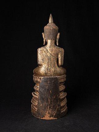 Antike holzerne Thai Ayutthaya Buddha