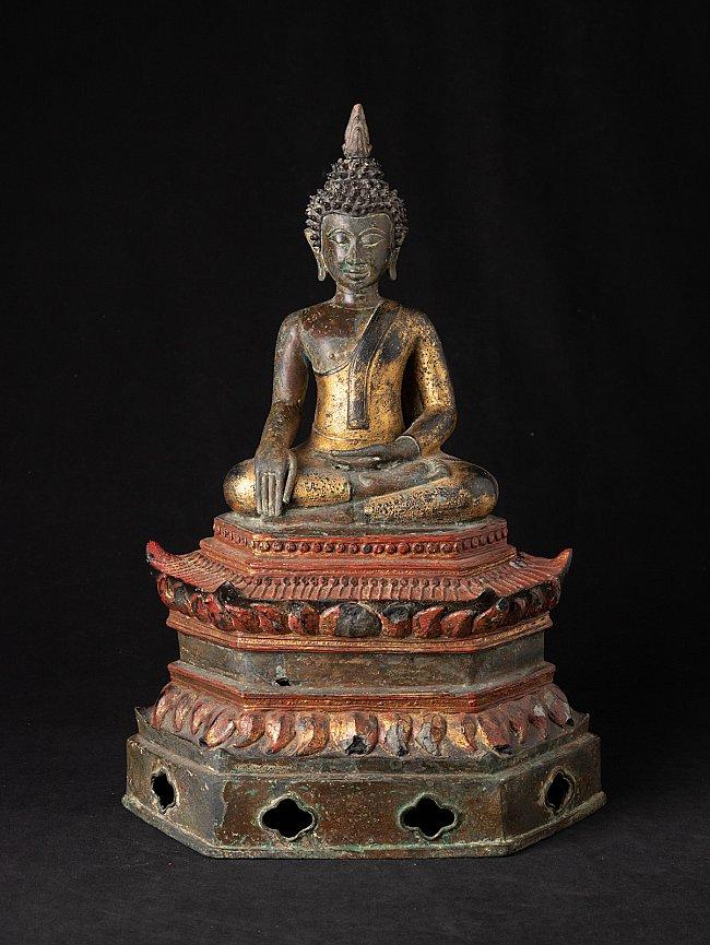 Antieke bronzen Laotiaanse Boeddha