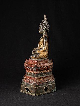 Antique bronze Laotian Buddha statue