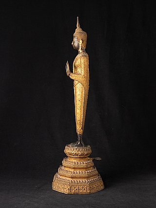 Antique Thai bronze Rattanakosin Buddha