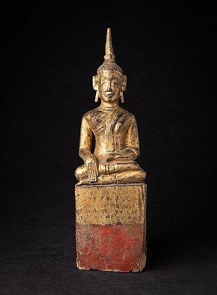 Antieke houten Laos Boeddha