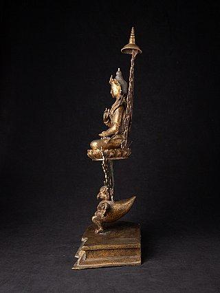 Special antique bronze Nepali Buddha statue