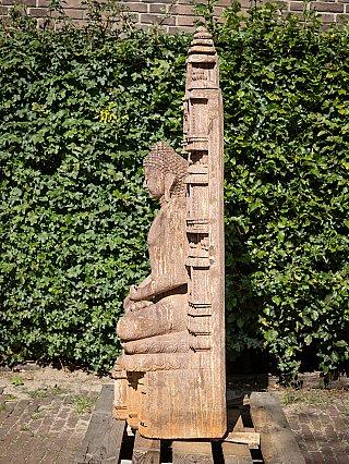Large sandstone Buddha statue