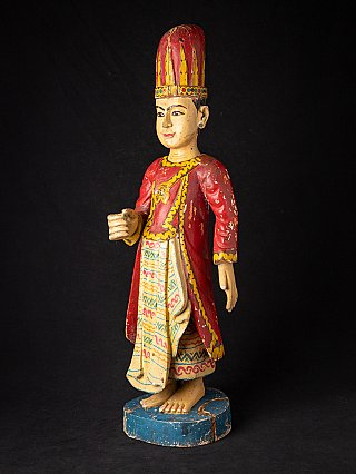 Antieke houten Birmese Nat