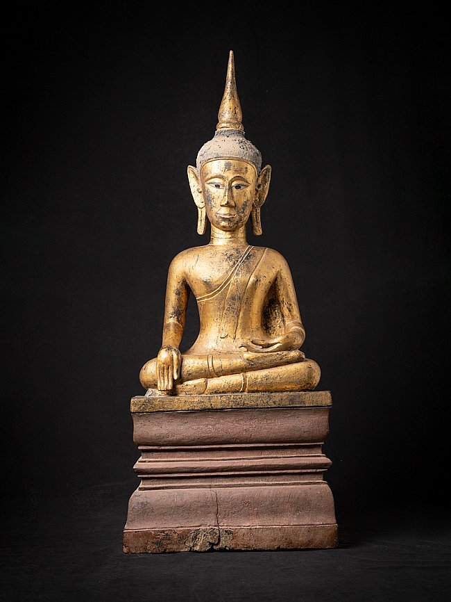 Large antique Laotian Buddha statue