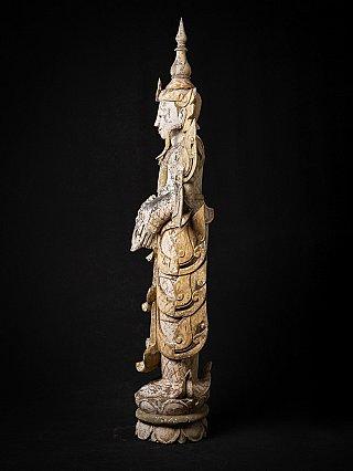 Standing wooden Burmese Nat statue