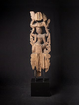 Antique woodcarving of Burmese Nat statues