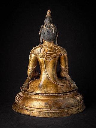 Oude bronzen Nepalese Aparmita Boeddha