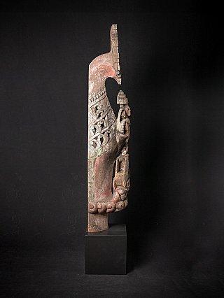 Antiek houten tempelpaneel