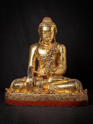 Large old wooden Mandalay Buddha