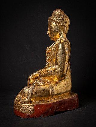 Grote oude houten Mandalay Boeddha
