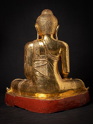 Large old wooden Mandalay Buddha