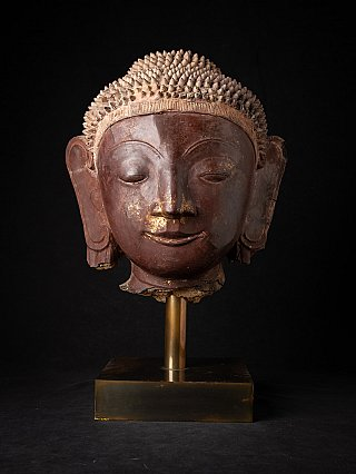 Very special antique Burmese Buddha head