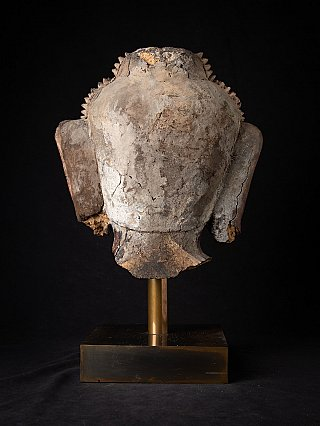 Very special antique Burmese Buddha head