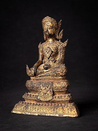 Antique bronze Thai Rattanakosin Buddha